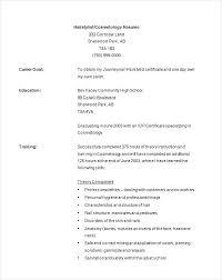 cosmetologist resume exles hair stylist resume cosmetology resume exles for students