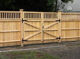 privacy fence driveway gate fence company in ma builds a double