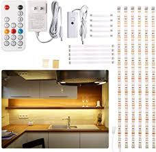 how to install lighting your kitchen cabinets cabinet led lighting kit 6 pcs led lights with remote dimmer and adapter dimmable for kitchen cabinet counter shelf tv