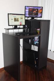 Custom Computer Desk Design by Furniture Small Black Standing Computer Desk Workstation With