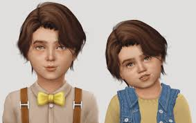 childs hairstyles sims 4 spring4sims toddler child wings oe0202 hair conversion for the