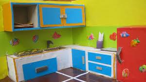 kitchen set furniture miniature kitchen set from card board youtube