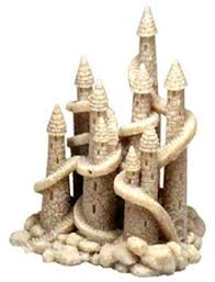 blue ribbon pet products resin ornament sand castle