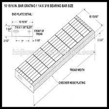 iso serrated stair treads grating steel step for stair buy steel