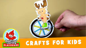 paper toy unicycle craft for kids maple leaf learning playhouse
