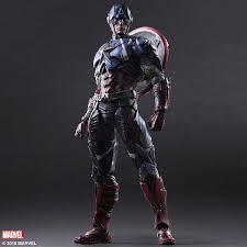 captain america play arts kai variant thinkgeek
