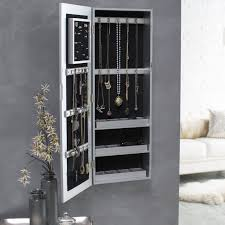 Pier One Mirror Jewelry Armoire Belham Living Hollywood Mirrored Locking Wall Mount Jewelry
