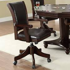 Poker Table Chairs Marcus Bumper Poker Dining 5 Piece Table Set In Mahogany Finish By