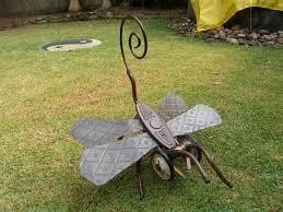 outdoor metal sculpture dragonfly sculptures jangling