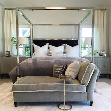 over the mirror canopy bed chandelier transitional bedroom