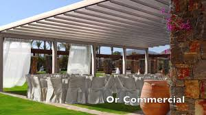 Pergola Retractable Canopy by Flute Waterproof Retractable Pergola Awning Youtube