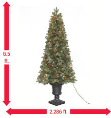 home accents holiday 6 5 ft greenland potted artificial christmas