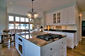 Mirror Tile Backsplash Kitchen by Alder Wood Sage Green Amesbury Door Kitchen Islands With Stove
