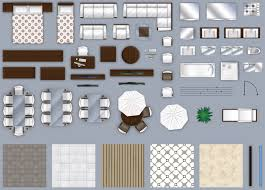2d furniture floorplan top down view style 3d model cgtrader com