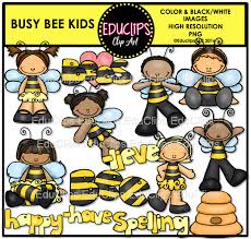 busy bee kids clip art bundle color and b u0026w welcome to
