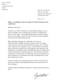 8 Lettre De Motivation Logistique Cv Vendeuse 5 Lettre De Motivation Bac Pro Commerce Exemple Lettres