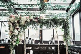 wedding arch nyc wedding arch rooftop ceremony florist nyc