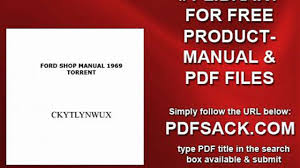 ford shop manual 1969 torrent video dailymotion