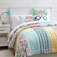 oxford embroidered flamingo duvet cover pottery barn kids