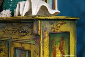 Yellow Accent Table The Turquoise Iris Furniture U0026 Art Hand Painted Mustard Yellow