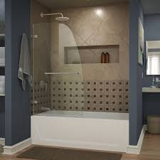 Bathtubs With Glass Shower Doors Half Glass Shower Door For Bathtub Ideas All Design Doors Ideas