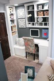 corner desk and sitting area dark gray closet changed into an