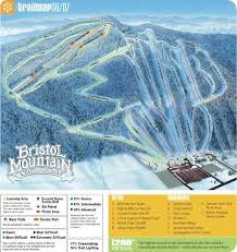 Canandaigua New York Map by Bristol Mountain Trail Map