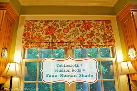 Roman Shades For Kitchen Imparting Grace Faux Roman Shade