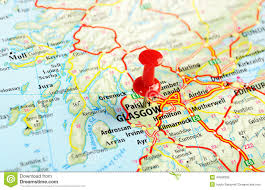 Britain Map Aberdeen Scotland Great Britain Map Stock Photo Image Of
