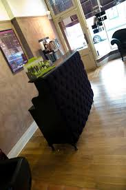 Reception Desk Black Stylish Padded Reception Desk Velvet Padded Front Reception Desk
