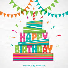 colorful happy birthday card free vectors ui download