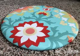 the craft patch how to reupholster a round chair seat