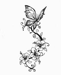 collection of 25 butterfly floral design