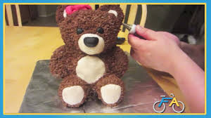 How To Decorate A Birthday Cake At Home World U0027s Cutest Teddy Bear Cake Youtube