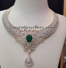 simple diamond set simple diamond set with emerald jewellery designs