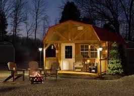Mini Barns Michigan Open End Portable Camphouse Cabin Millers Mini Barns