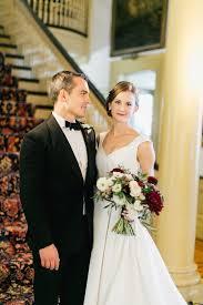 philadelphia wedding bride wears carolina herrera dress
