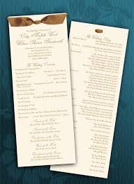 wedding programs with ribbon wedding programs