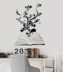 Vinyl Wall Decals by Vinyl Wall Decal Book Bookworm Library Bookstore Stickers