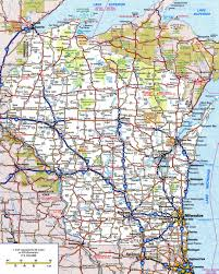 Weather Map Wisconsin by Large Detailed Roads And Highways Map Of Wisconsin State With