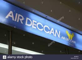 check in desk sign air deccan check in desk logo sign mumbai airport stock photo
