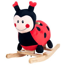Ladybug Rocking Chair Happy Trails Plush Browns Rocking Horse With Seat M400008 The