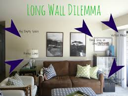 Decorating A Large Room How To Decorate Long Wall In Living Room Long Wall Decoration