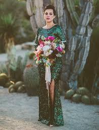 sequined wedding dress mid century glam desert wedding nic iain green wedding shoes