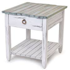 blue end table elegant blue distressed end table slim round