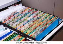 Folders For Filing Cabinet Stock Photos Of Filing Cabinet Documents Folders Sorted For