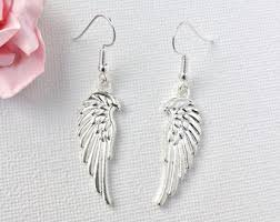 wing earrings angel wings earrings etsy