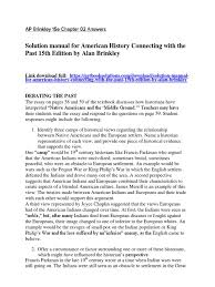 download solution manual for american history connecting with the