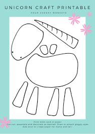 unicorn craft activity flower crown and free printables unicorn