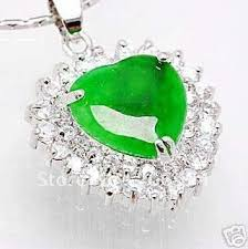 green heart pendant necklace images Real jade jewelry beautiful green heart shaped pendant necklace jpg